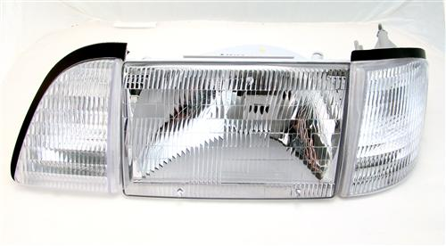 1987-93 Mustang Economy Headlight Kit with Clear Sidemarkers