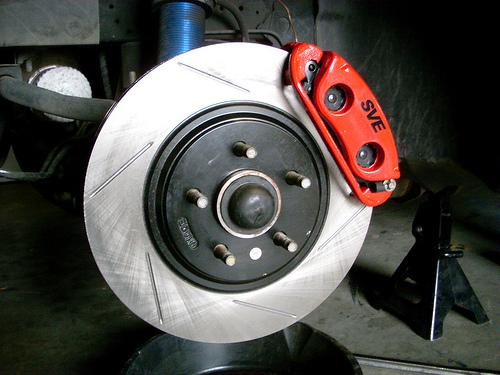 "1994-04 Mustang Red SVE 13"" Cobra Style Front Brake Kit"